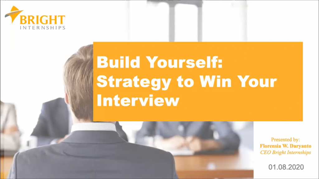"Webinar and Donation I (We-Do) ""Build Yourself: Strategy to Win Your Interview"""