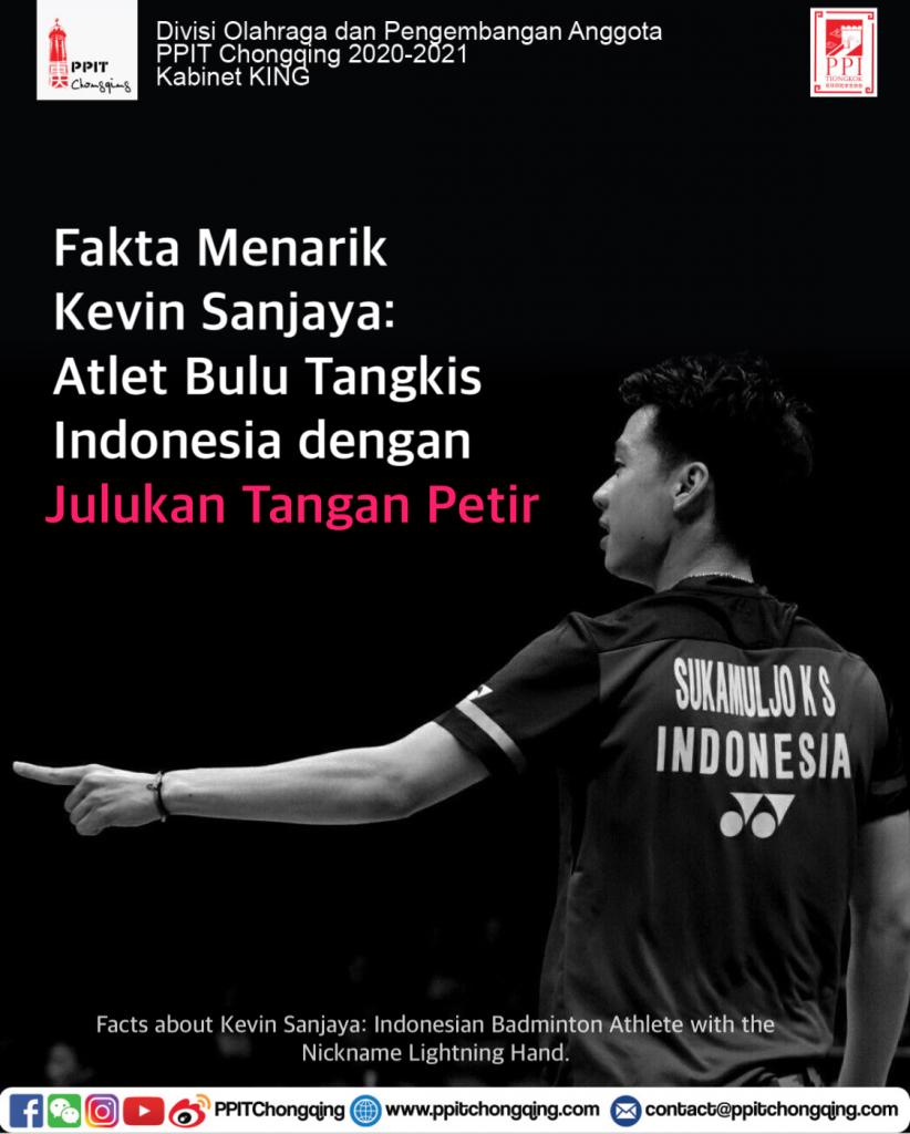 Fakta Menarik Kevin Sanjaya: Atlet Bulu Tangkis Indonesia dengan Julukan Tangan Petir